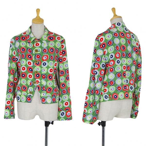 ワイズY's レーヨンコットンプリントジャケット 緑赤紺他2