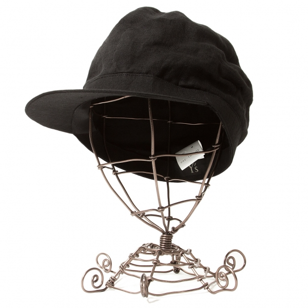 ワイズY's リネンキャスケット 黒