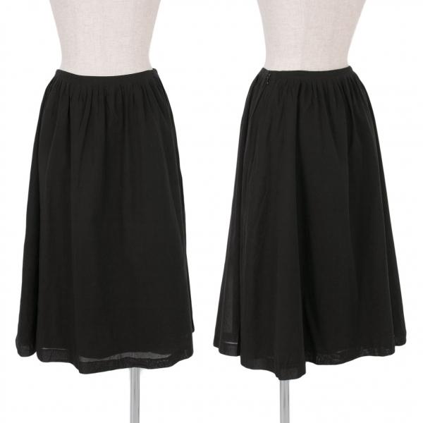 シビラSybilla コットンギャザースカート 黒M