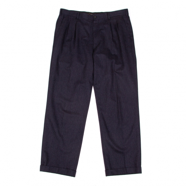 Papas Wool Stripe Pants Size 54(XL)(K-51848)