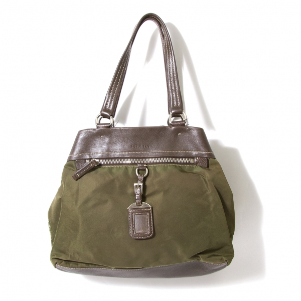f75a2bd70c19 Image is loading PRADA-Leather-Switch-Nylon-Shoulder-Bag-K-52181