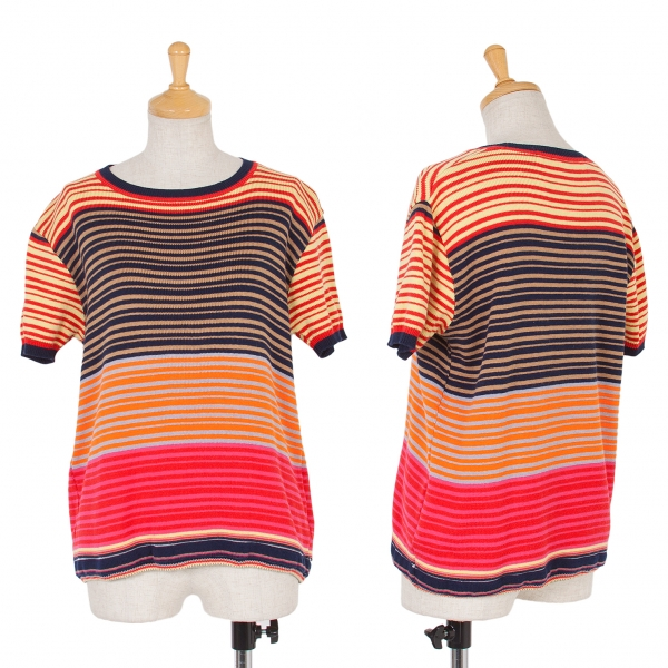 JUNYA WATANABE Stripe Knit Short Sleeve Sweater Größe S-M(K-52196)