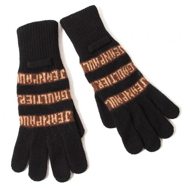ジャンポールゴルチエJean Paul GAULTIER ロゴ手袋 黒茶