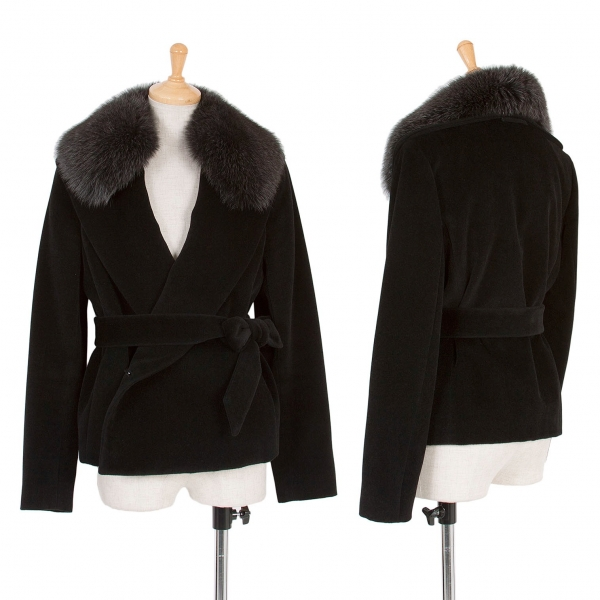 Jean Paul Gaultier Real Fur Collar Coat Size 2(K 52467) by Jean Paul Gaultier