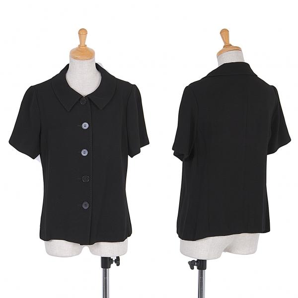 ヨシエイナバyoshie inaba アムンゼン半袖シャツジャケット 黒40