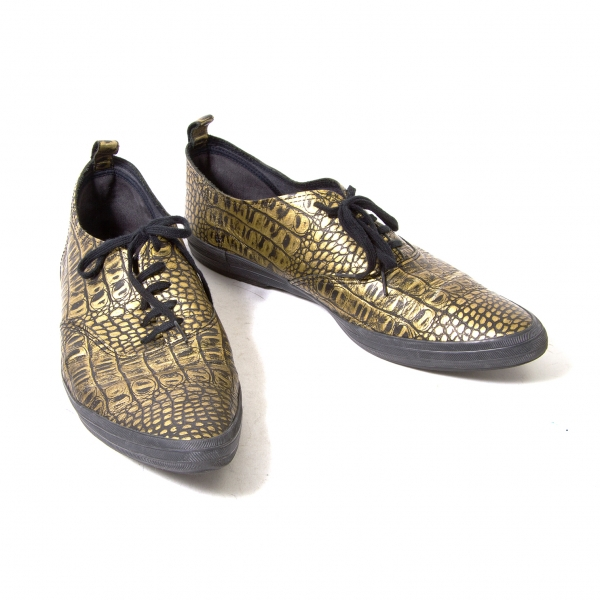2a351eb497a252 COMME des GARCONS HOMME PLUS Crocodile slip-on slip-on slip-on shoes Size  US 9(K-52602) 23129c