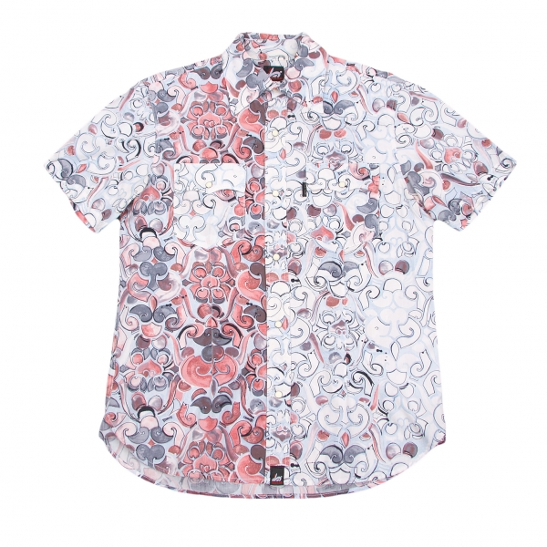 paul smith red ear print western shirt size l k 52762 ebay
