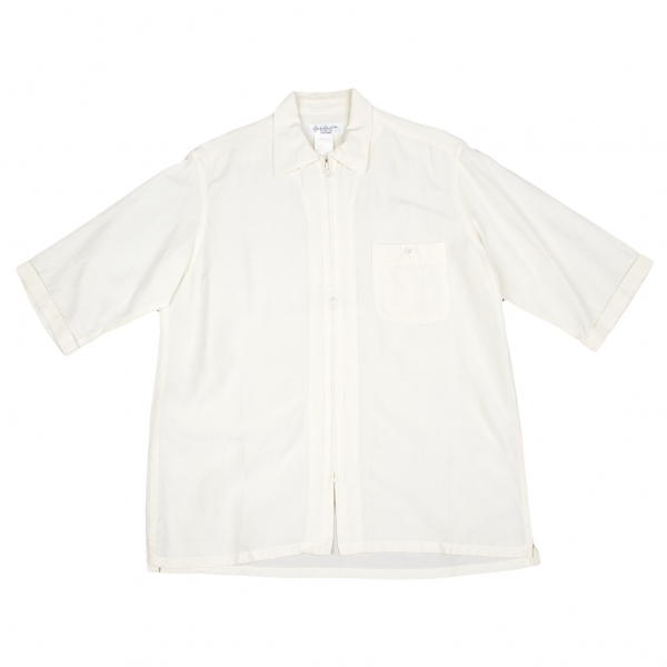 Yohji Yamamoto POUR HOMME Zip Up Shirt Size 3(K-53222)