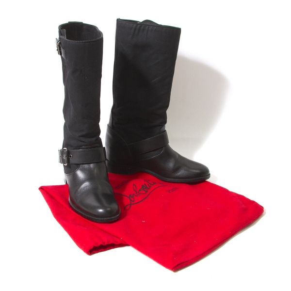 Christian Louboutin Canvas Switch boots Size 35.5(K-53273)