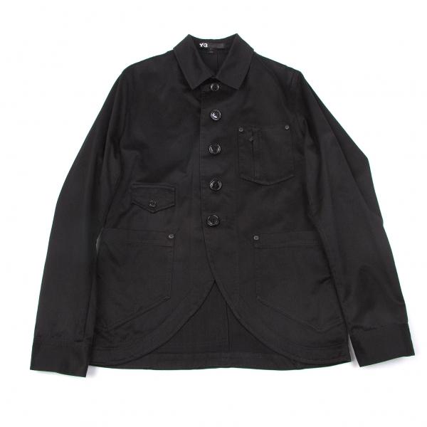 ワイスリーY-3 バック3ストライプシャツジャケット 黒S/P