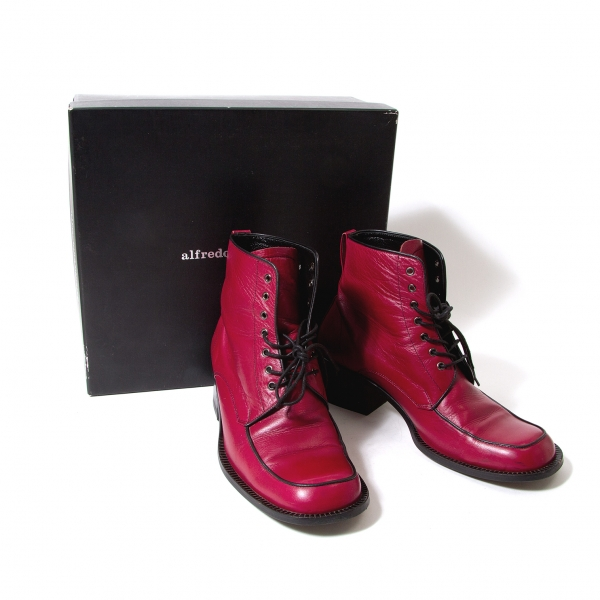 alfredoBANNISTER Leather heel boots Size 39(K-53719)
