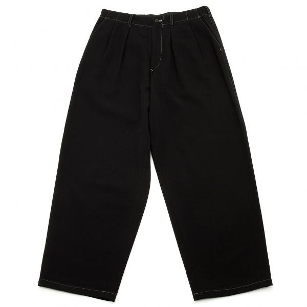 ワイズフォーメンY's for men ステッチデザインウールパンツ 黒L
