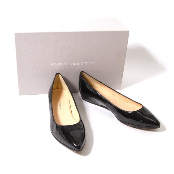 FABIO RUSCONI Inhale Enamel Ballet Shoes Size 35.5(K-53938)