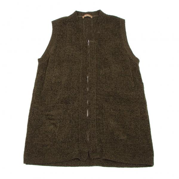 Y's for men Front Zip Acrylic Knit Vest Größe S-M(K-54028)