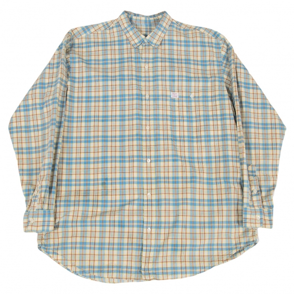 Papas Cotton Plaid Long Sleeve Shirt Size M(K-54466)