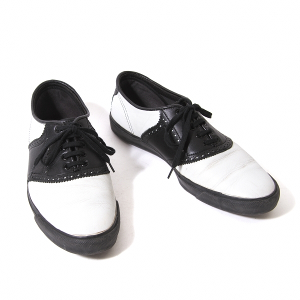 COMME des GARCONS Bicolor leather sneakers Size 3(US About 8)(K-54492)
