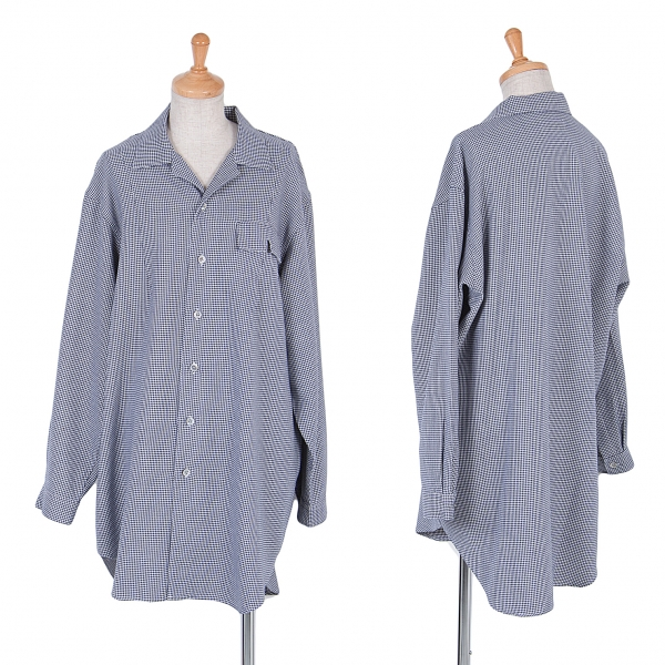 Y's Hound tooth Long Sleeve Shirt Größe About XL(K-54601)