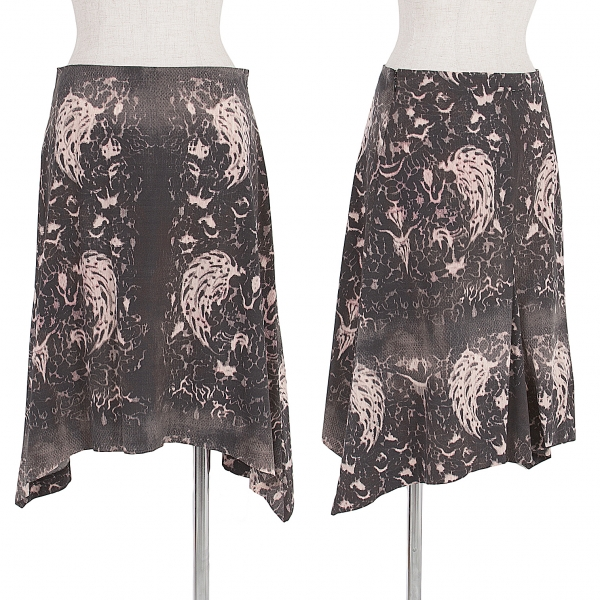 Jean-Paul GAULTIER Modified print stretch Skirt Size 40(K-54628)