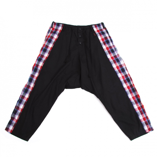 Y's Gipsy Side Plaids Switched Sarouel Pants Size 2(K-54662)