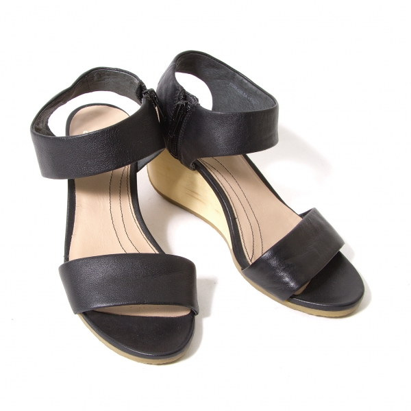 CAMPER Leather ankle strap wedge sandals Size US About 6(K-54799)