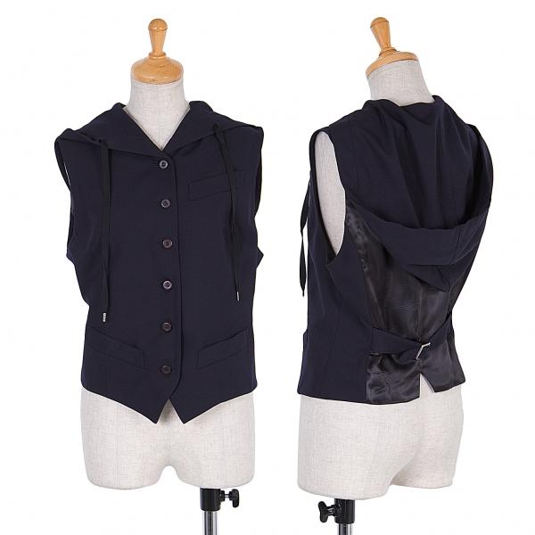 Jean-Paul GAULTIER FEMME Hooded wool vest Size 40(K-54955)