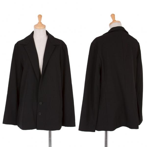 【SALE】ワイズY's バルカラーウールギャバジャケット 黒3