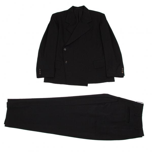 ワイズフォーメンY's for men ウールギャバダブルセットアップスーツ 黒M/S