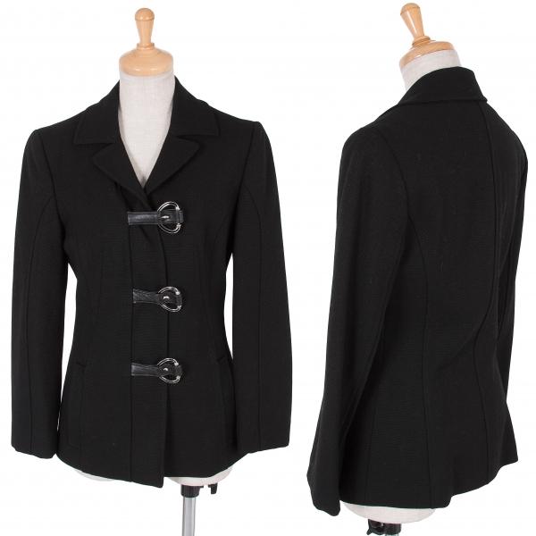 【SALE】ディーアンドジーD&G リングベルトボタンジャケット 黒ピンク24/38