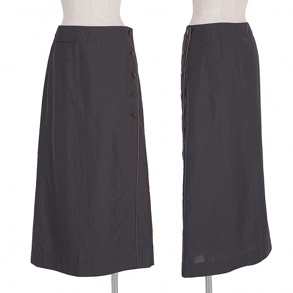 ISSEY MIYAKE HaaT Button fly piping lap skirt Size 2(K-55298)