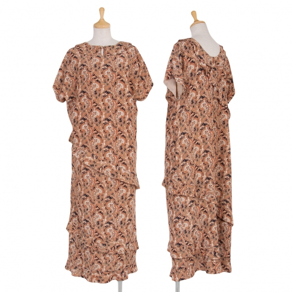 INGEBORG Paisley frill switch Dress Size S-M(K-55342)