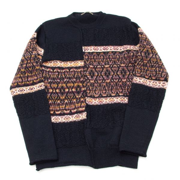 Y's for men Wool Nylon Knit Sweater Größe 3(K-55444)