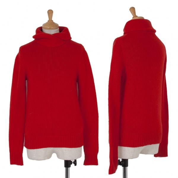 ラルフローレンRALPH LAUREN ショールカラーニットセーター 赤XS