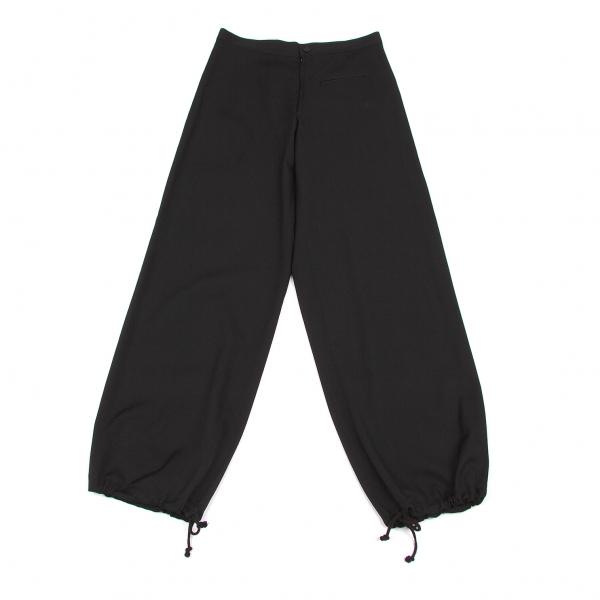 ヨウジヤマモトファムYohji Yamamoto FEMME ウールギャバ裾絞りパンツ 黒2