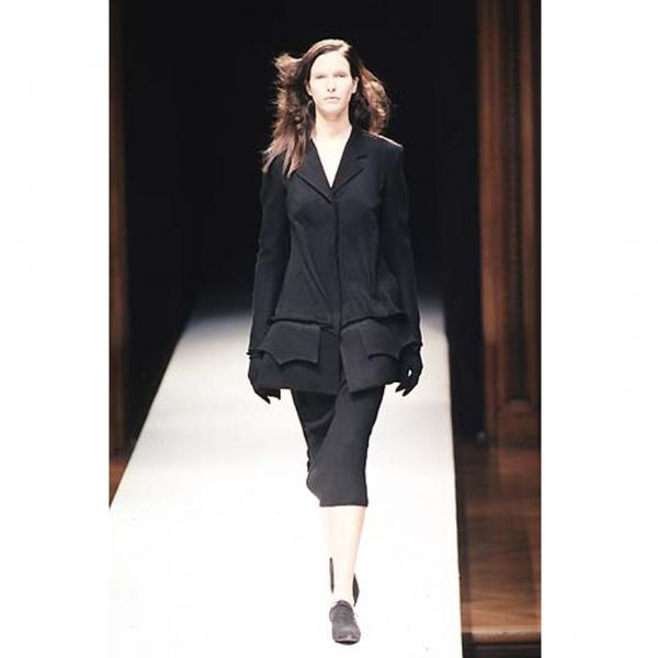 ヨウジヤマモト ファムYohji Yamamoto FEMME ウール変形縫い合わせジャケット 黒S