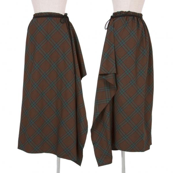 Y & 039;s sesgo  comprobar falda talla 4 (K-56137)  Seleccione de las marcas más nuevas como