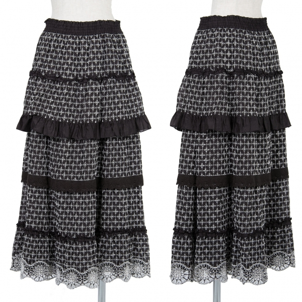 DOLLY GIRL BY ANNA SUI Embroidery Tiered Skirt Size 2(K-56274)