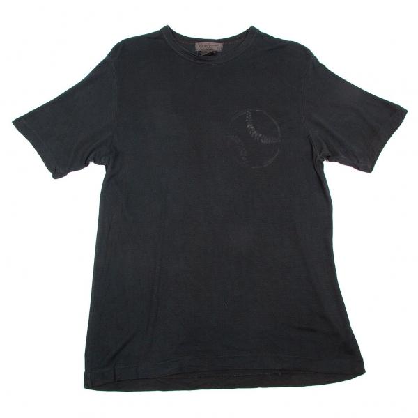 Yohji Yamamoto POUR HOMME Baseball Print T Shirt Größe S-M(K-56334)