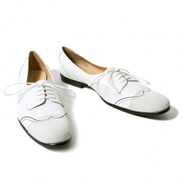 Yohji Yamamoto FEMME HIROMU TAKAHARA Leather Shoes Size US About 7.5(K-56347)