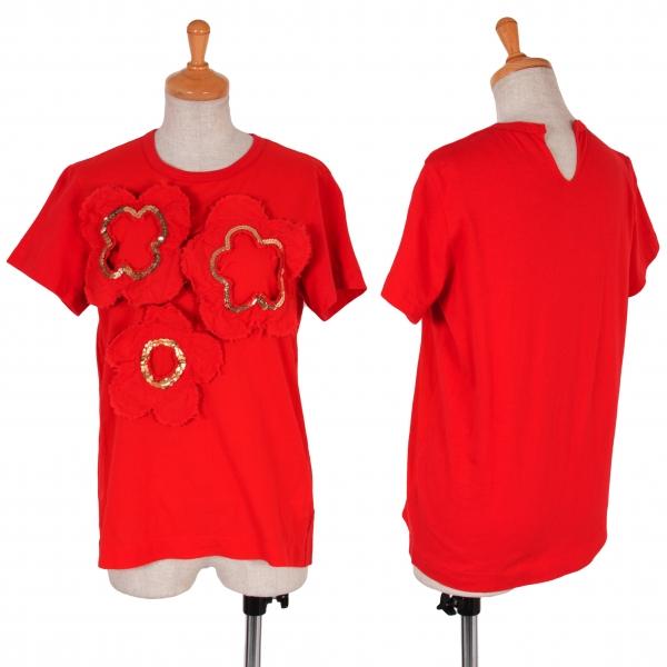 Tricot COMME des GARCONS Sequins T Shirt Size S-M(K-56405)