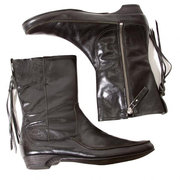 Y's Crack 6(US  Leder Stiefel Size 6(US Crack 7.5)(K-56504) bb8444