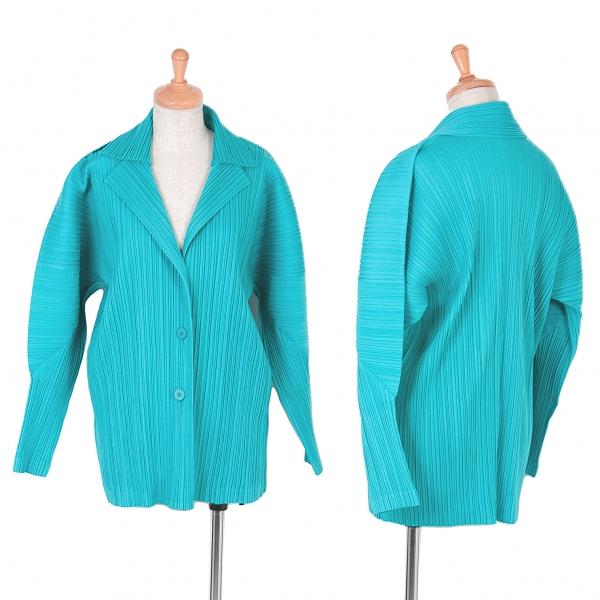 【SALE】プリーツプリーズPLEATS PLEASE プリーツジャケット 水色3