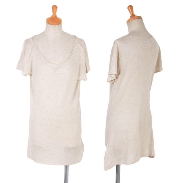 A T (ATSURO TAYAMA) Knit T Shirt Größe S-M (K-56658)