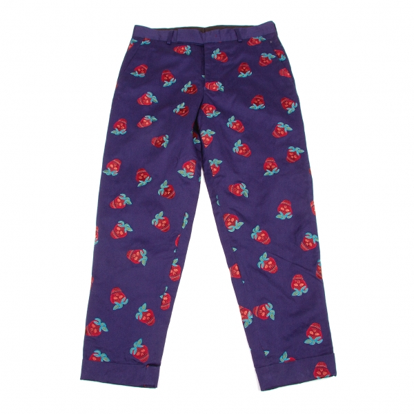 Paul Smith Embroider cotton linen pants Size XL(K-56708)