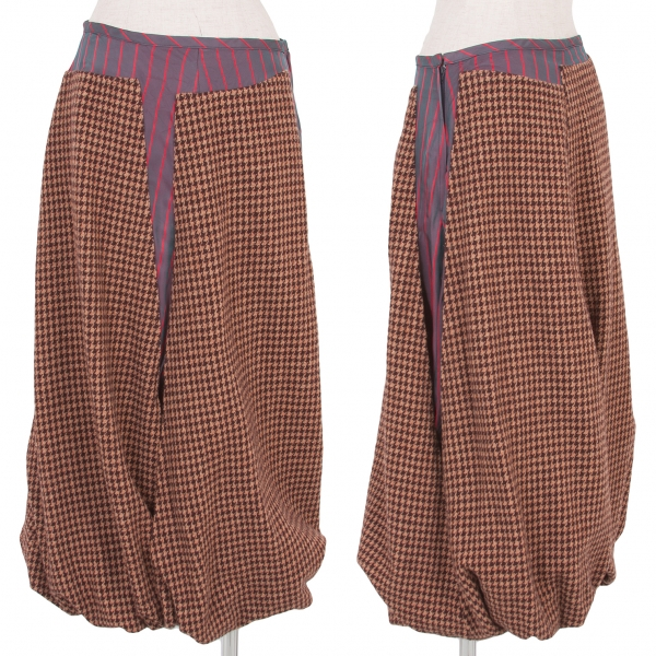 Tricot COMME des GARCONS Knitted docking Skirt Größe M(K-56812)