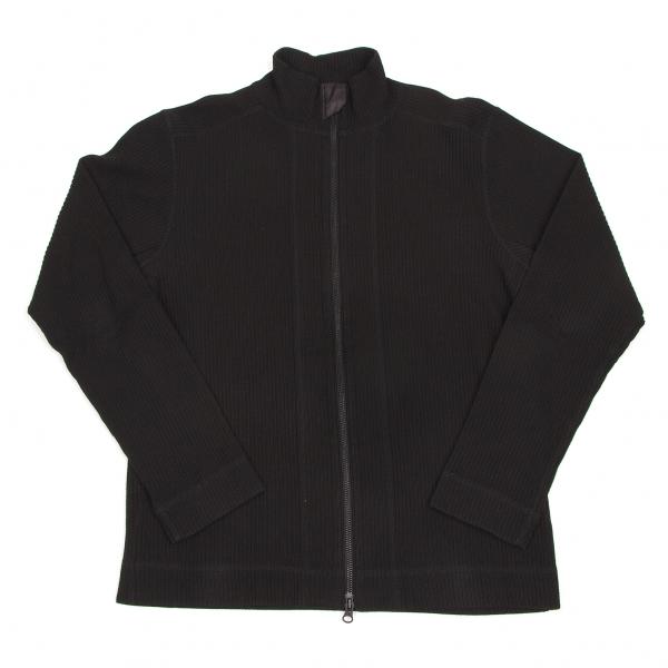 DKNY Rib knit Zip up Blouson Größe L(K-56958)