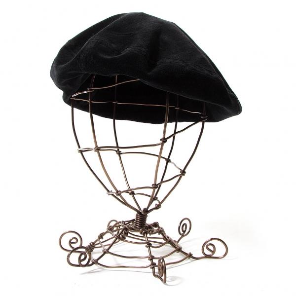 ワイズフォーメンY's for men ベロアベレー帽 黒