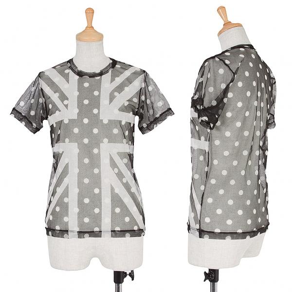 COMME des GARCONS Union Jack Dot Mesh T Shirt Größe XSPS(K-57132)