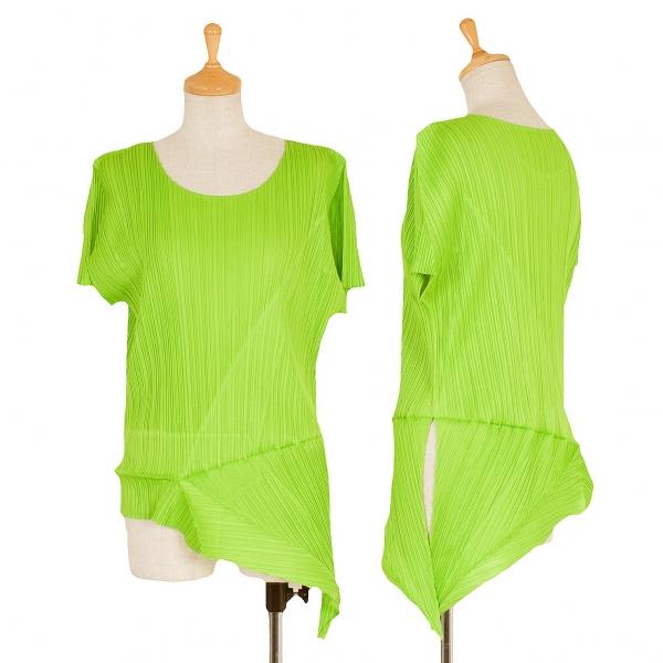 PLEATS PLEASE Asymmetry T Shirt Größe 4(K-57265)