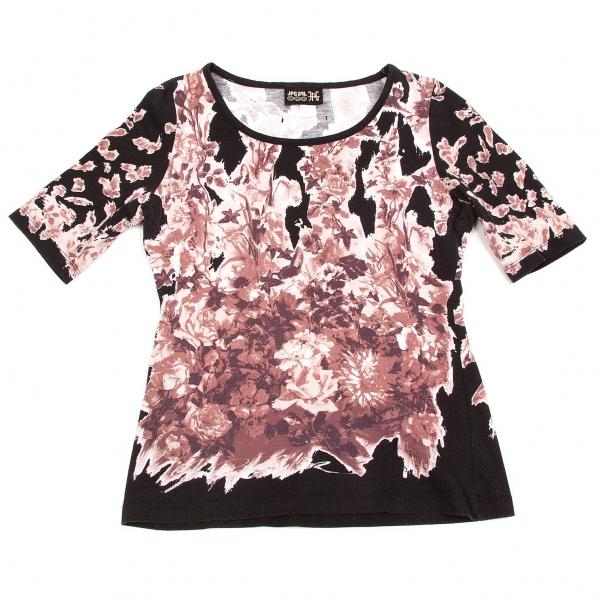 Jean-Paul GAULTIER Flower Printed T Shirt Größe 40(K-57350)