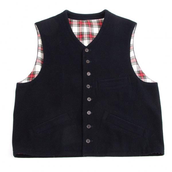 Y's for men Wool Nylon Felt Vest Größe S-M(K-57401)